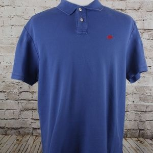Vintage 90's Nike Polo Shirt Size XL Solid Blue